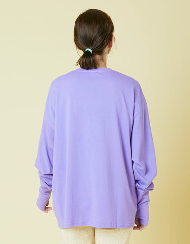 Smooch stitch long tee / PURPLE