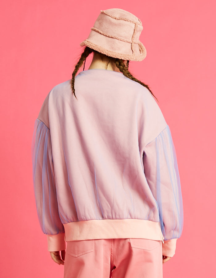 Message girly sweat top / PINK