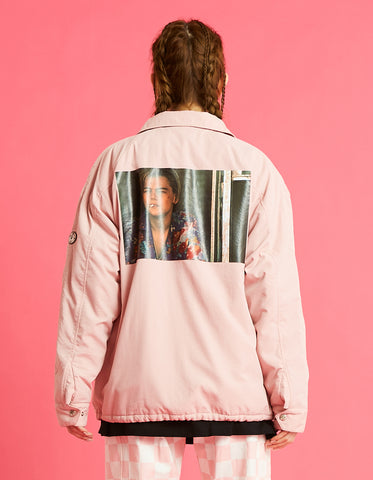 Romeo and juliet X LITTLE SUNNY BITE : Photo nylon jacket / PINK