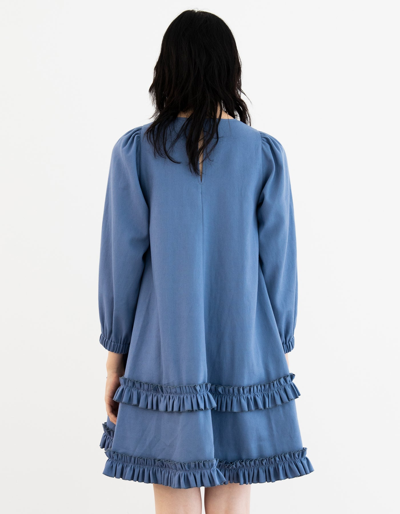 Frill girly dress / BLUE