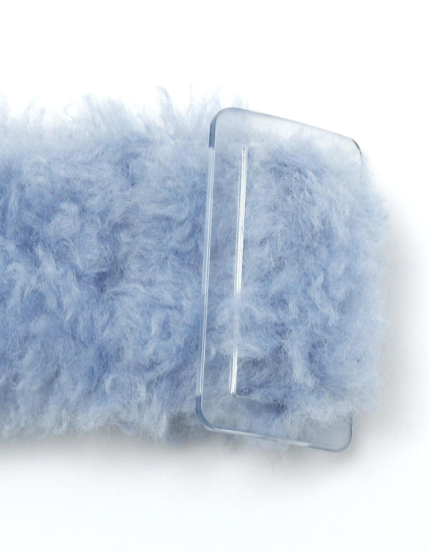Fur belt / BLUE