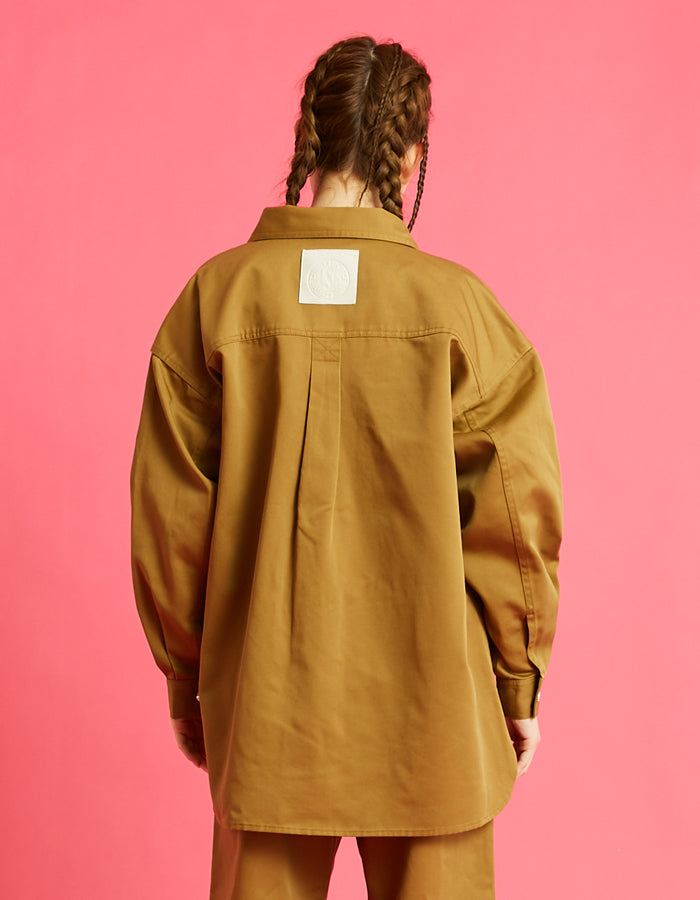 Dickes x little sunny bite shirts jacket / BEIGE
