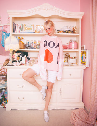 I love you long tee / PINK