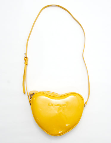 Heart shoulder bag / YELLOW