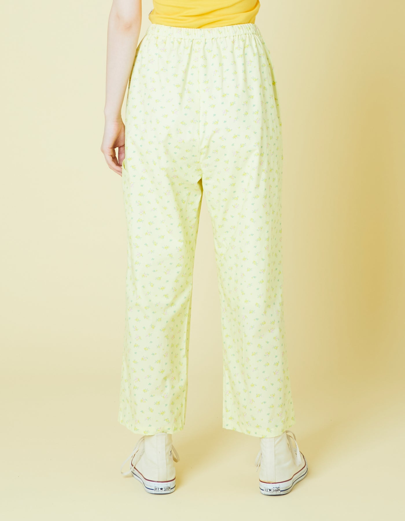 Floral pants / YELLOW