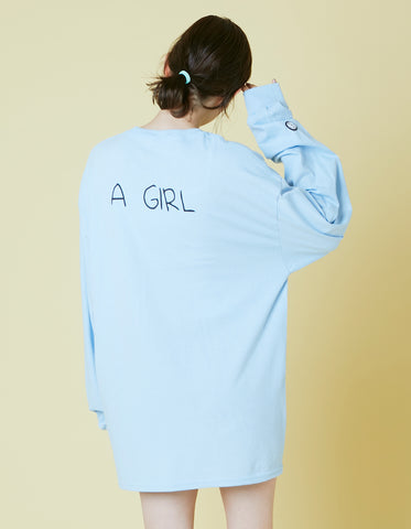 ogura akane x little sunny bite A girl long tee / BLUE