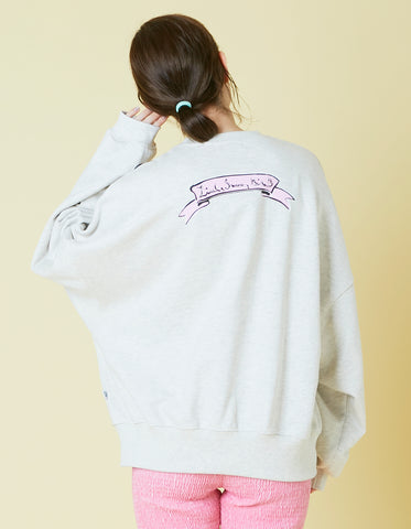 ogura akane x little sunny bite Bear sweat top / OATMEAL