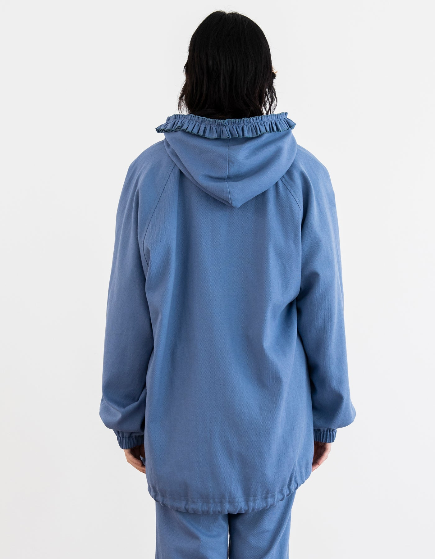 Frill big jacket / BLUE