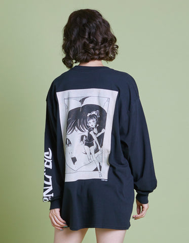 アタックNO1 x little sunny bite Comic long tee / BLACK