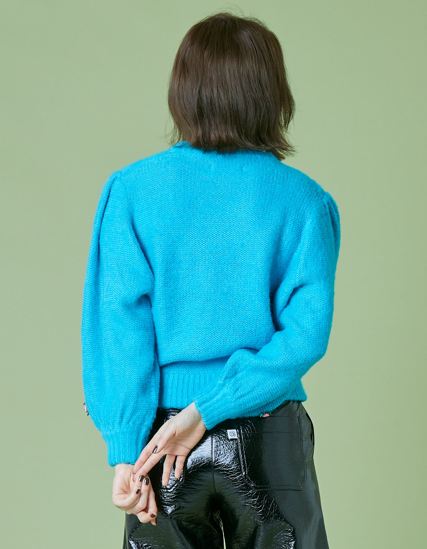 Mohair knit / BLUE