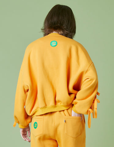 Patches all over sweat jacket / YELLOW