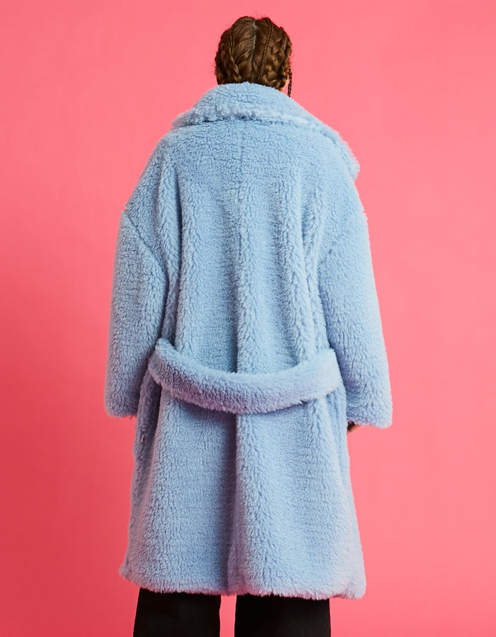 Big boa coat / BLUE