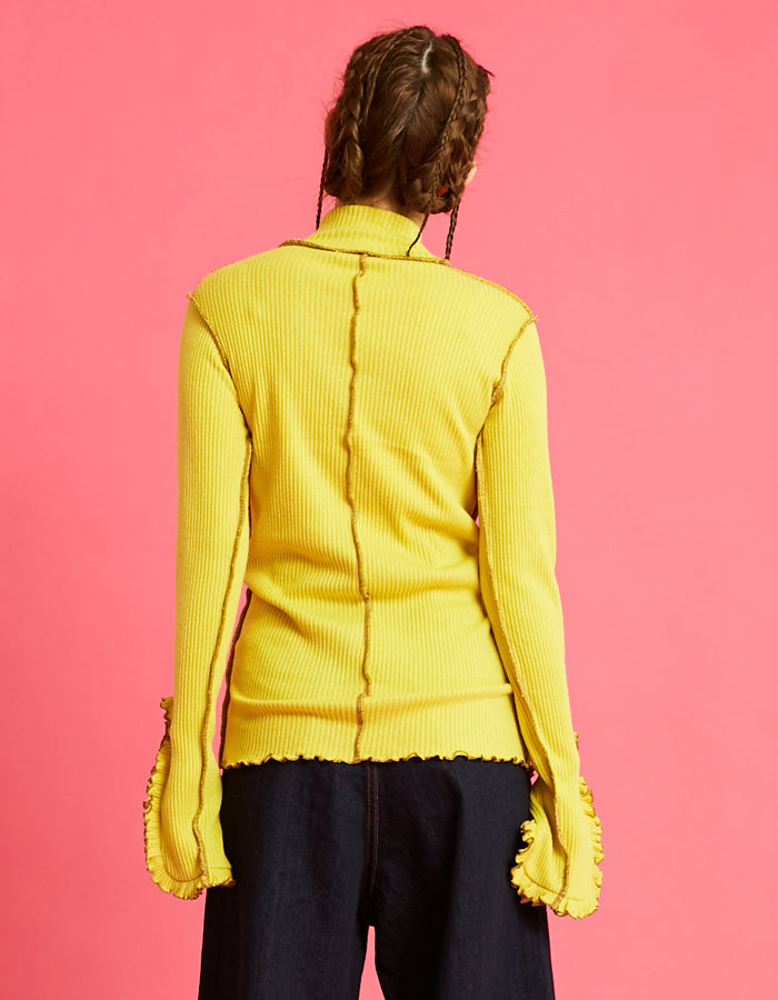 High kneck top / YELLOW