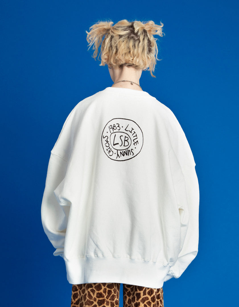 DOODLE MERRY SWEAT TOP / WHITE