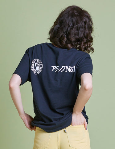 アタックNO1 x little sunny bite I m a girl big tee / BLACK