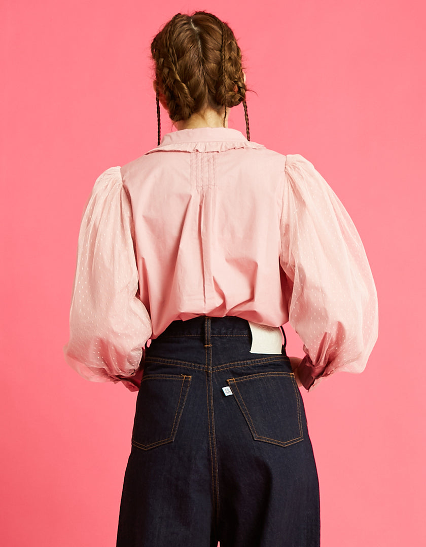 Layered sleeve blouse / PINK