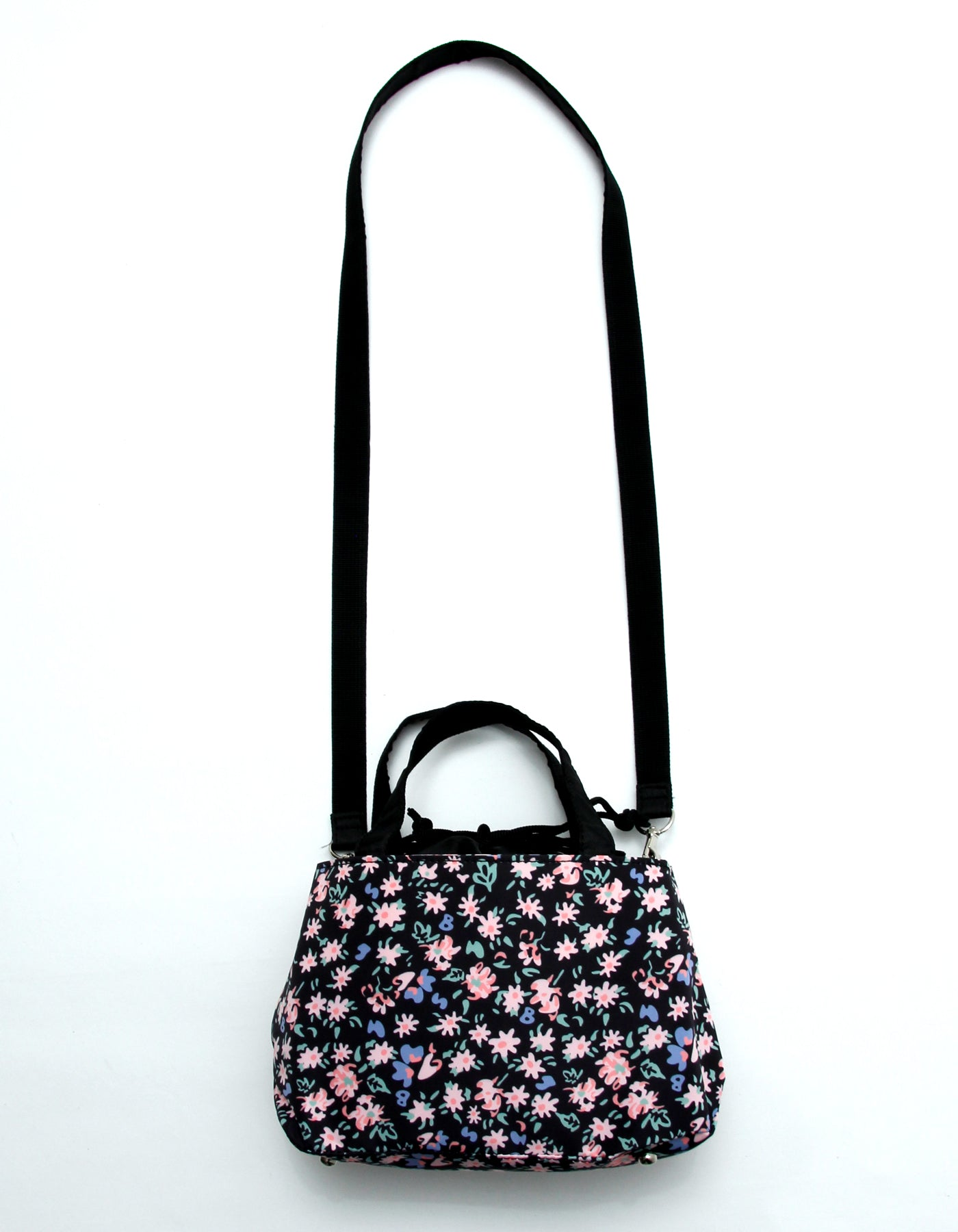 original floral 2way bag / BLACK