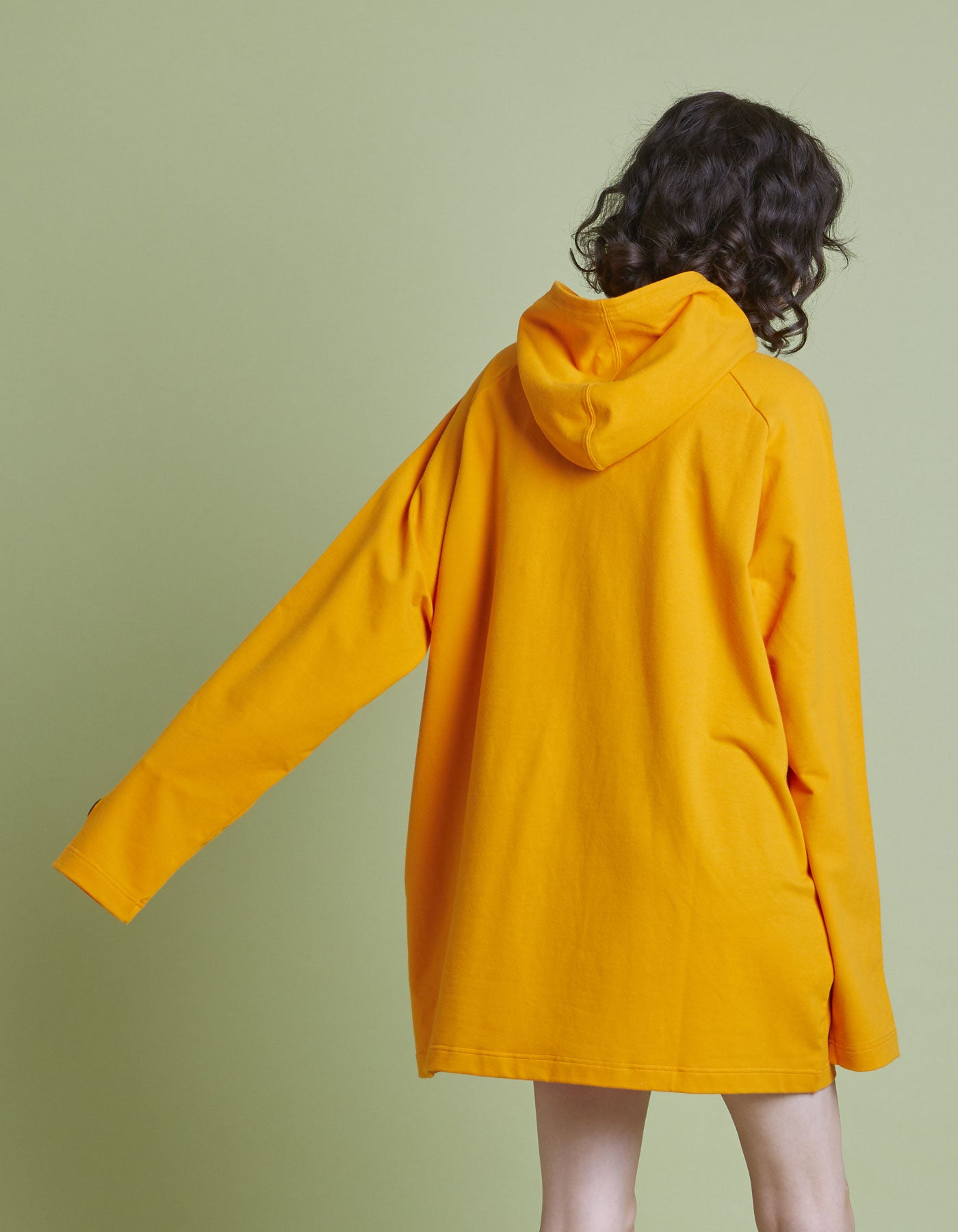The Muppets x little sunny bite Cut hoodie / ORANGE