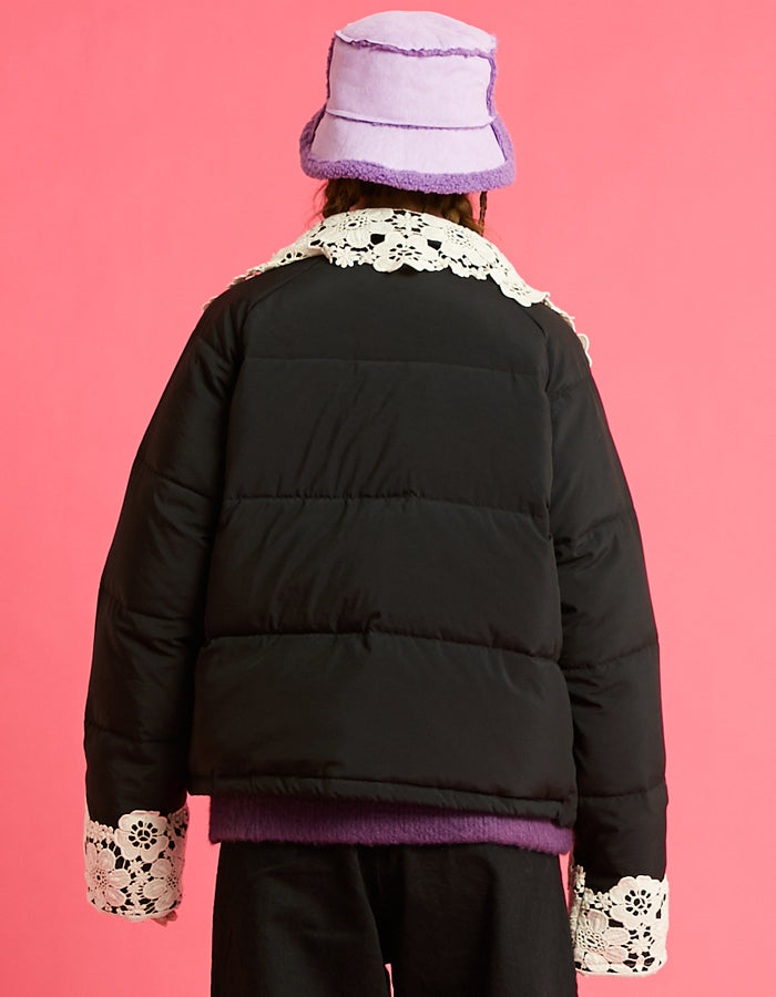 LSB logo down jacket / BLACK