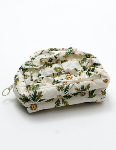 little sunny bite と pink house Flower print mini bag / WHITE