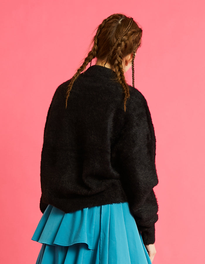 Everyday knit top / BLACK