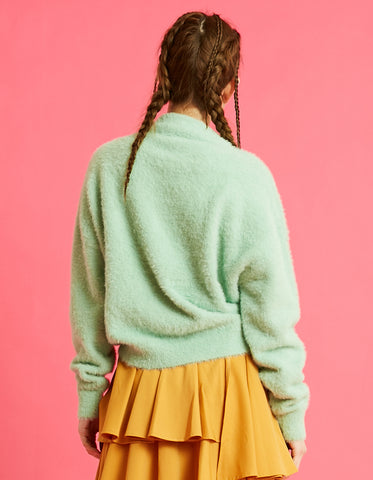 Everyday knit top / GREEN