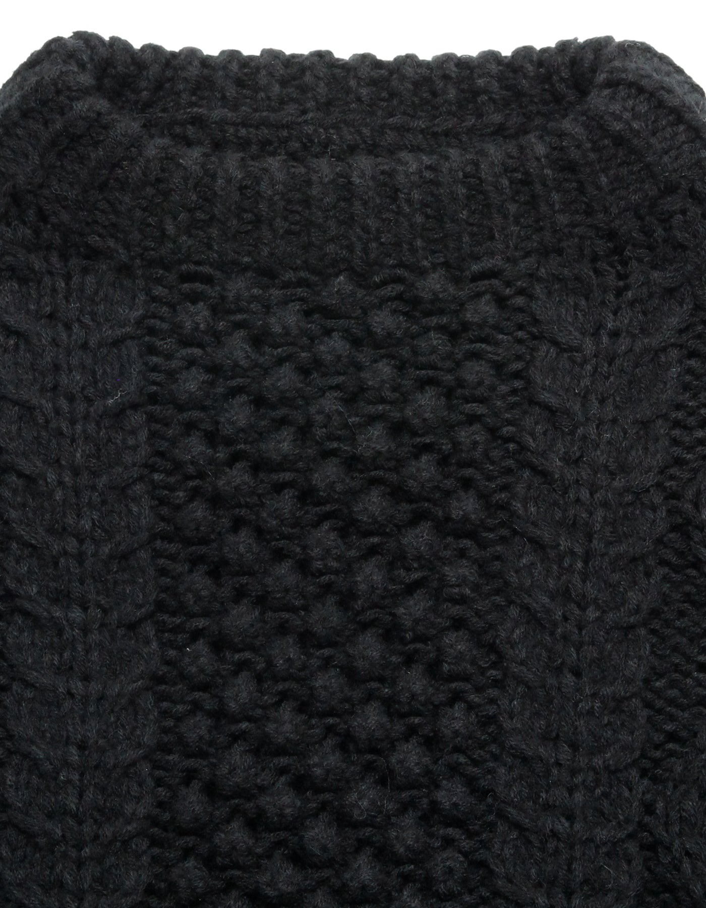 Cable knit / BLACK