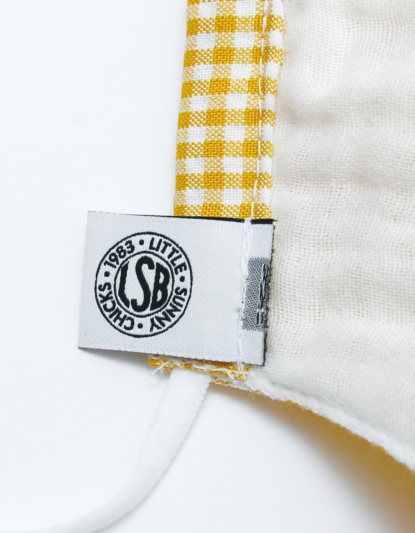 stay safe mask (small check) / YELLOW