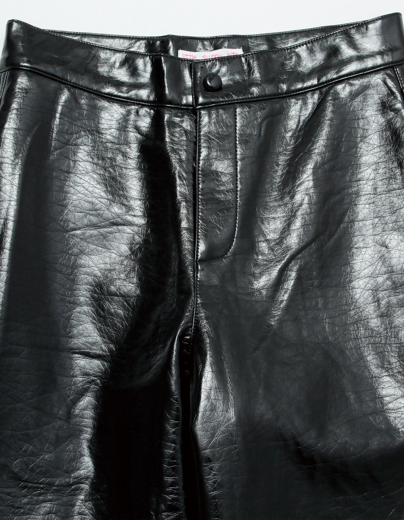 Synthetic leather pants / BLACK