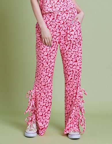 Floral pants / RED