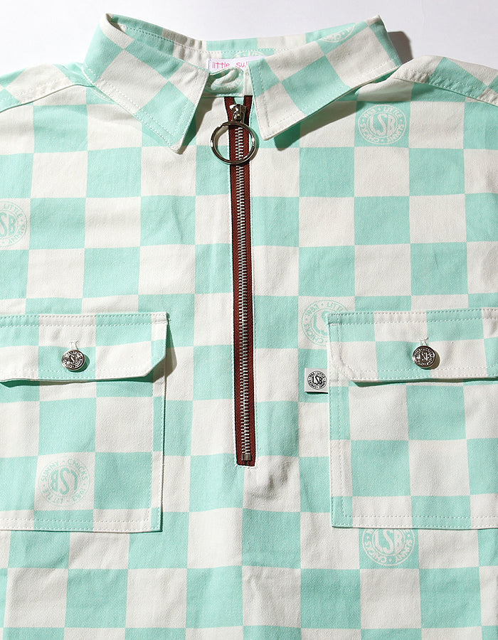 Checker big shirts / GREEN