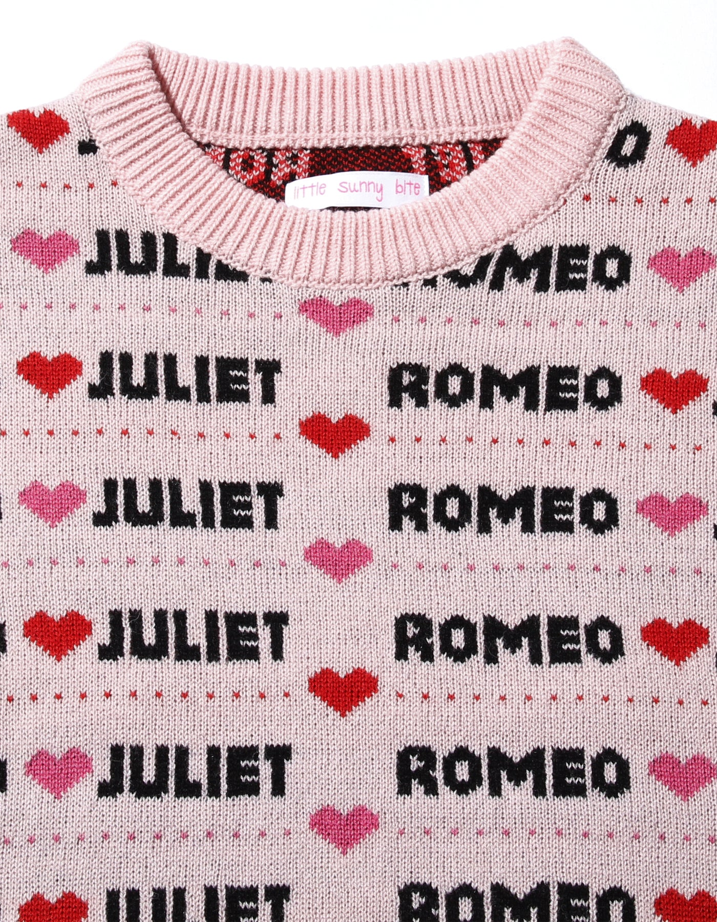 Romeo and juliet X LITTLE SUNNY BITE : Big knit top / PINK