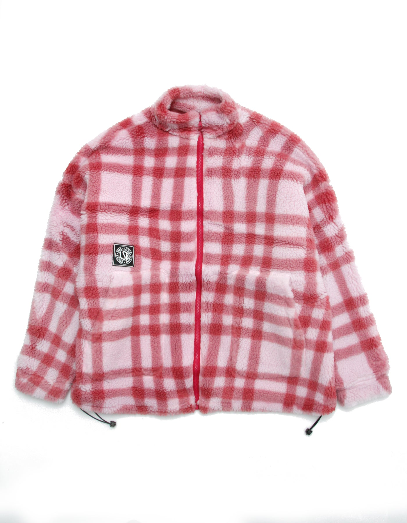 Original checked boa jacket / PINK