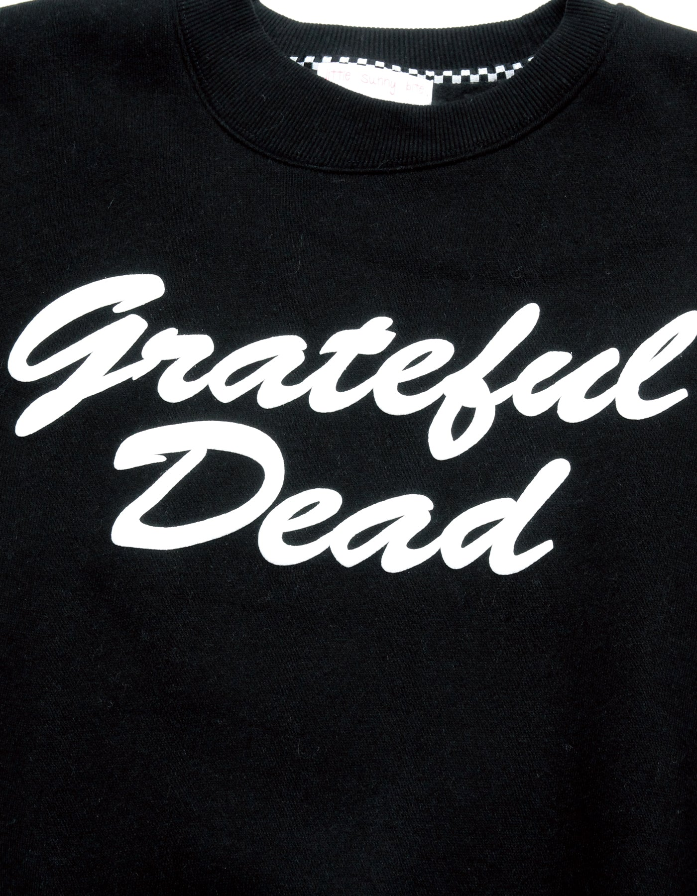 Grateful Dead x little sunny bite Print sweat top / BLACK