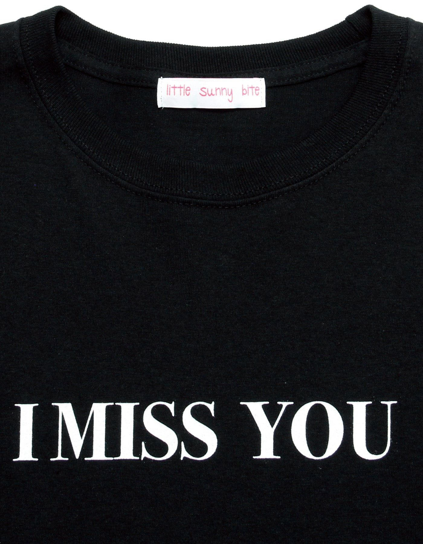 i miss you long tee / BLACK