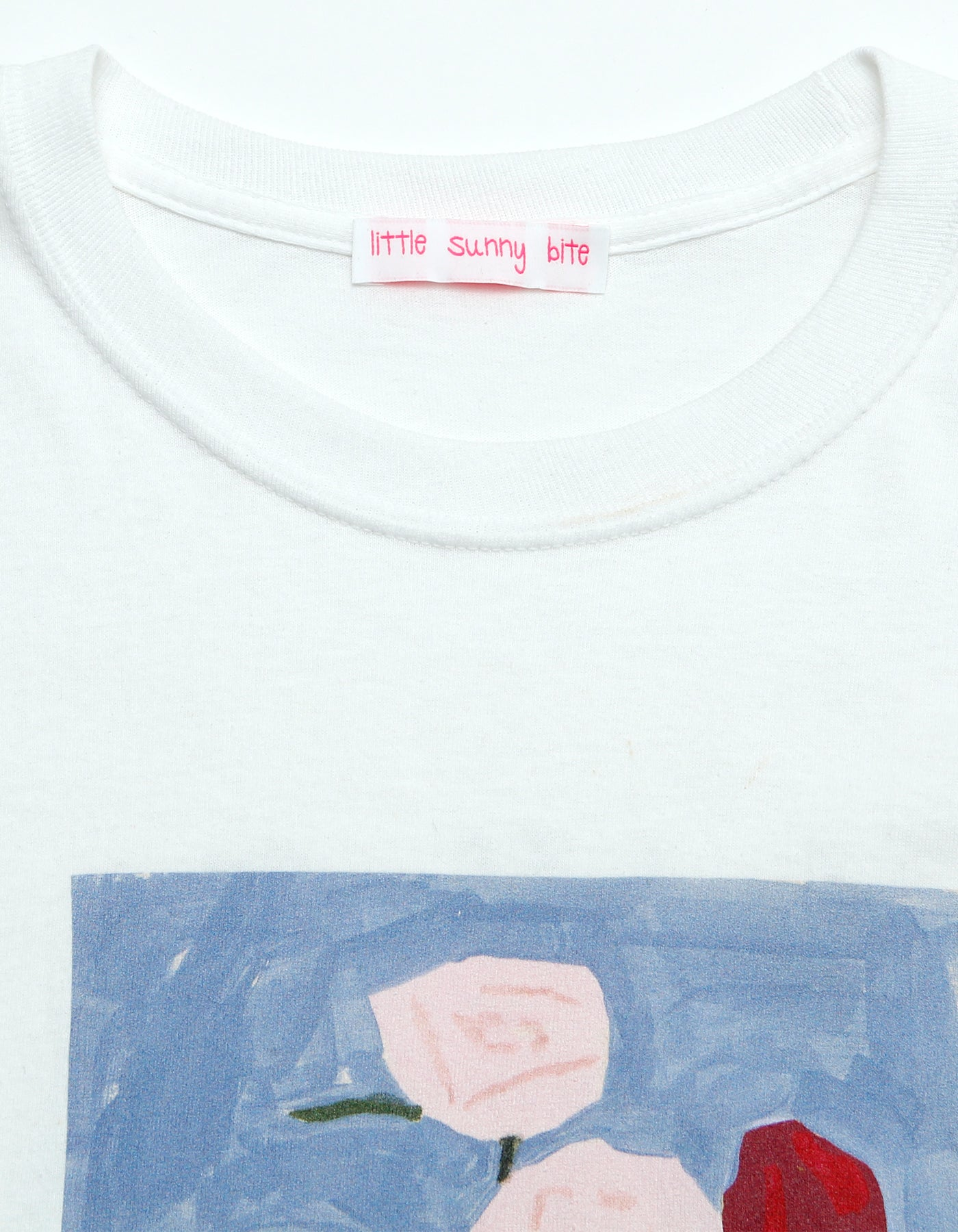 Charlotte mei x little sunny bite flower long tee / WHITE