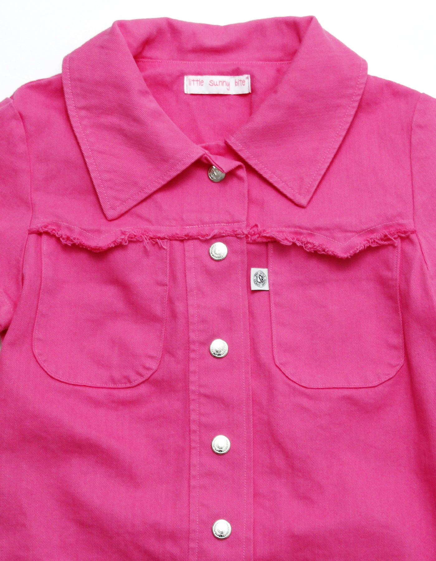Original colored denim washed shirt dress / PINK