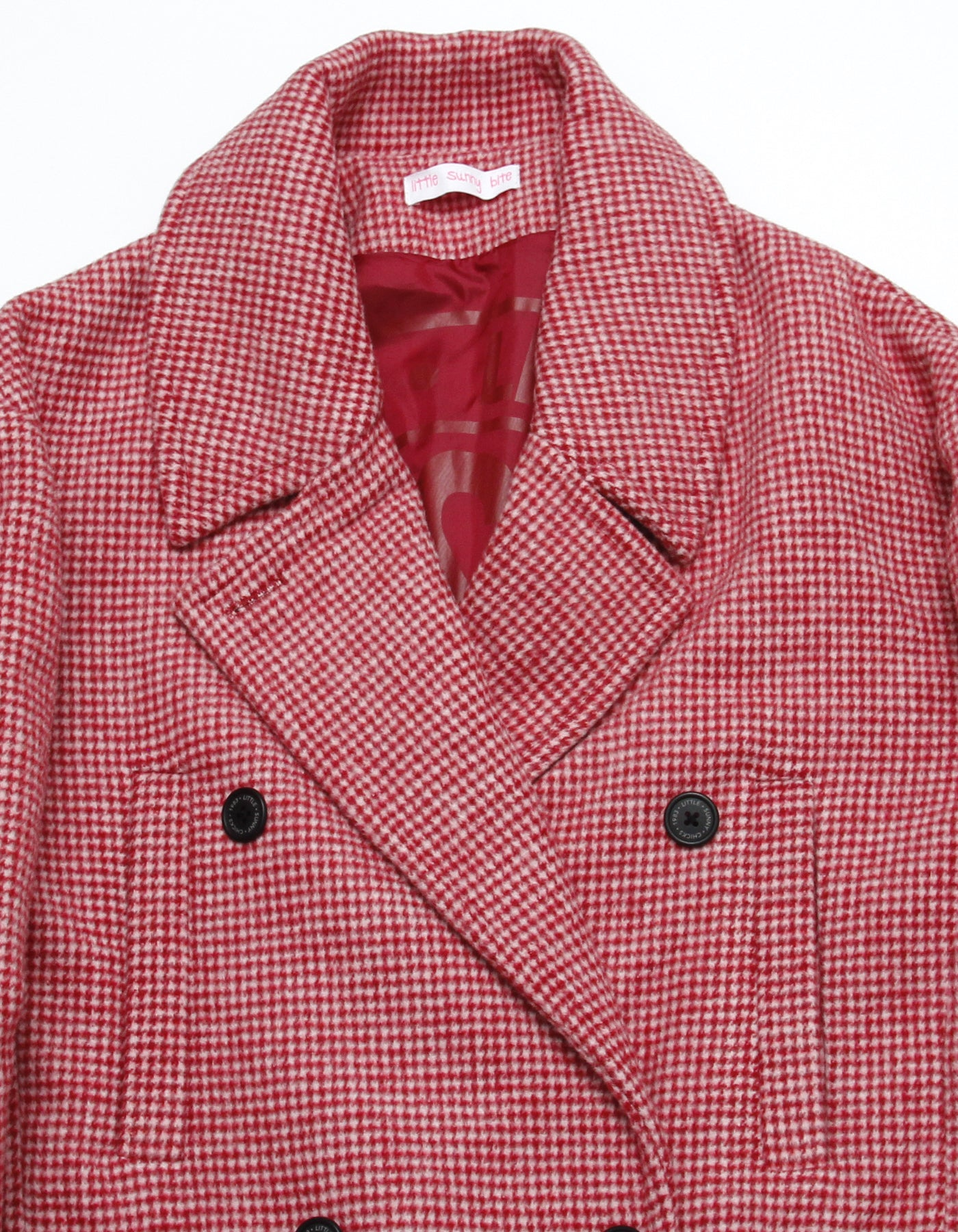 Big check coat / RED