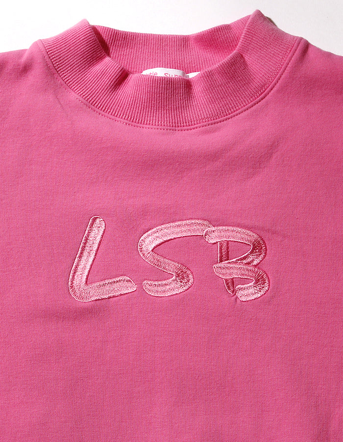 LSB high neck sweat dress / PINK