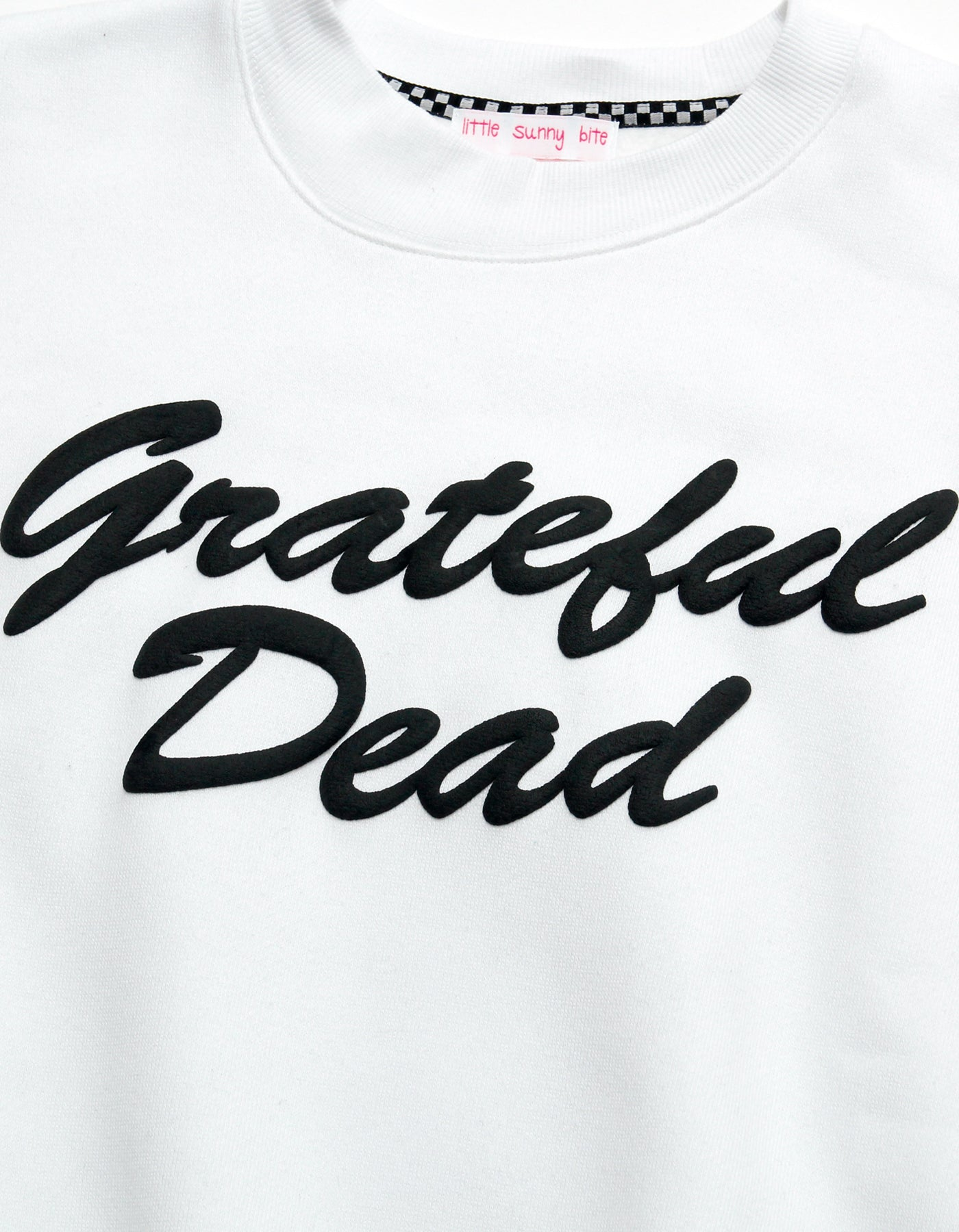 Grateful Dead x little sunny bite Print sweat top / WHITE