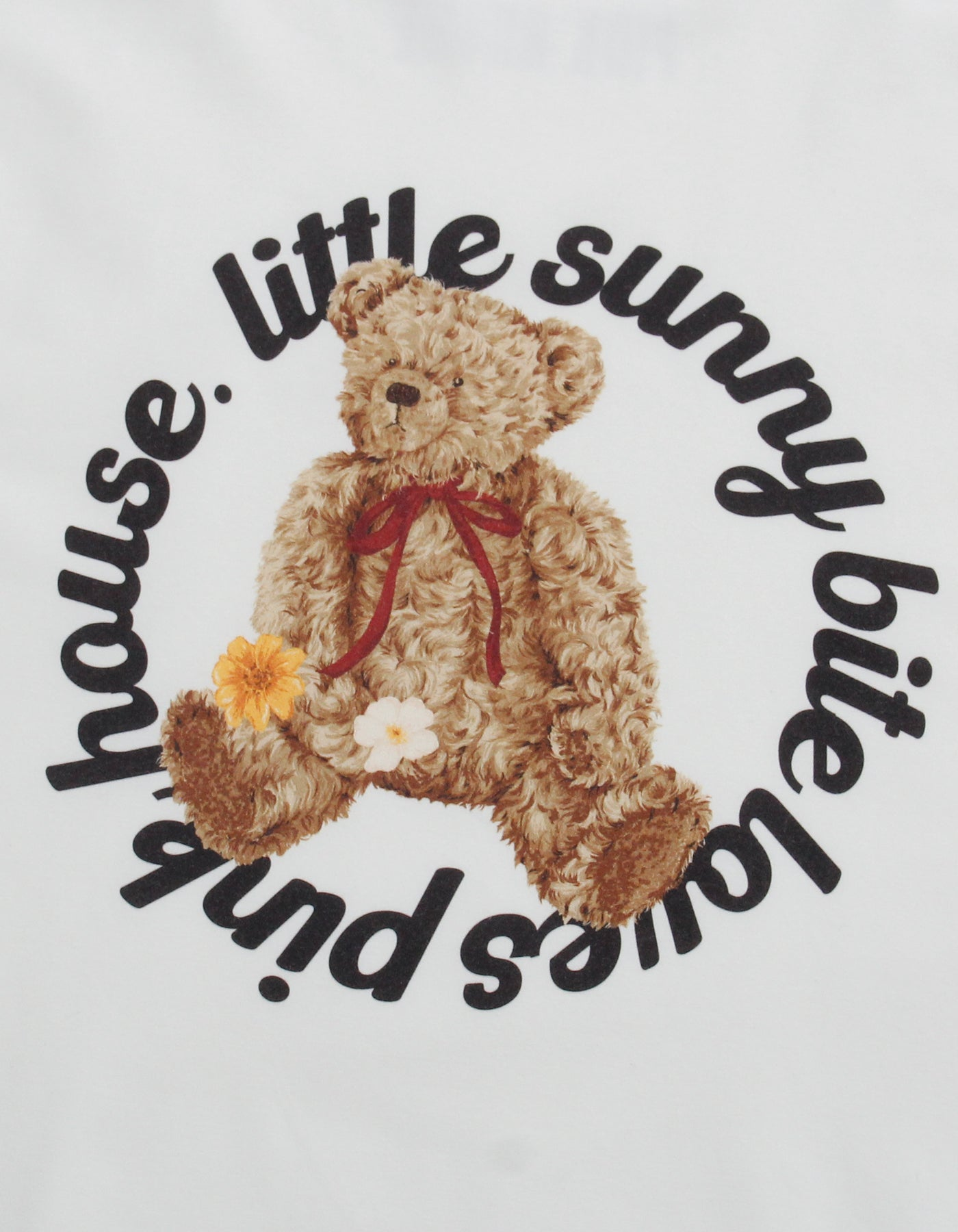 little sunny bite と pink house Bear big tee / WHITE