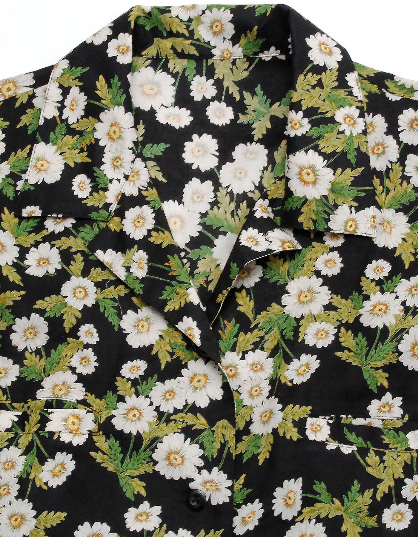 little sunny bite と pink house Flower print shirts / BLACK