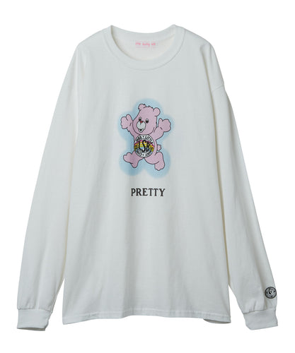 Cute bear long tee / WHITE