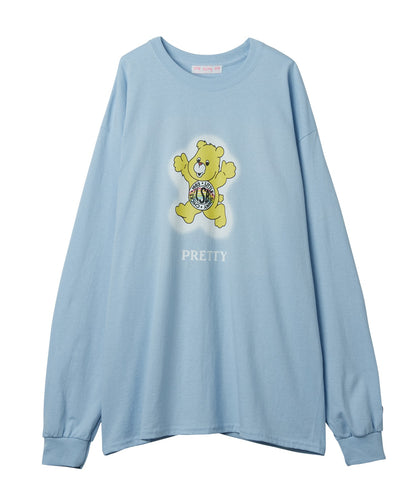 Cute bear long tee / SAX