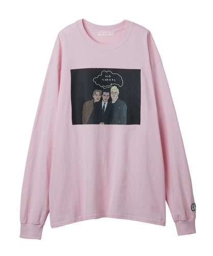 Handsome men long tee / PINK