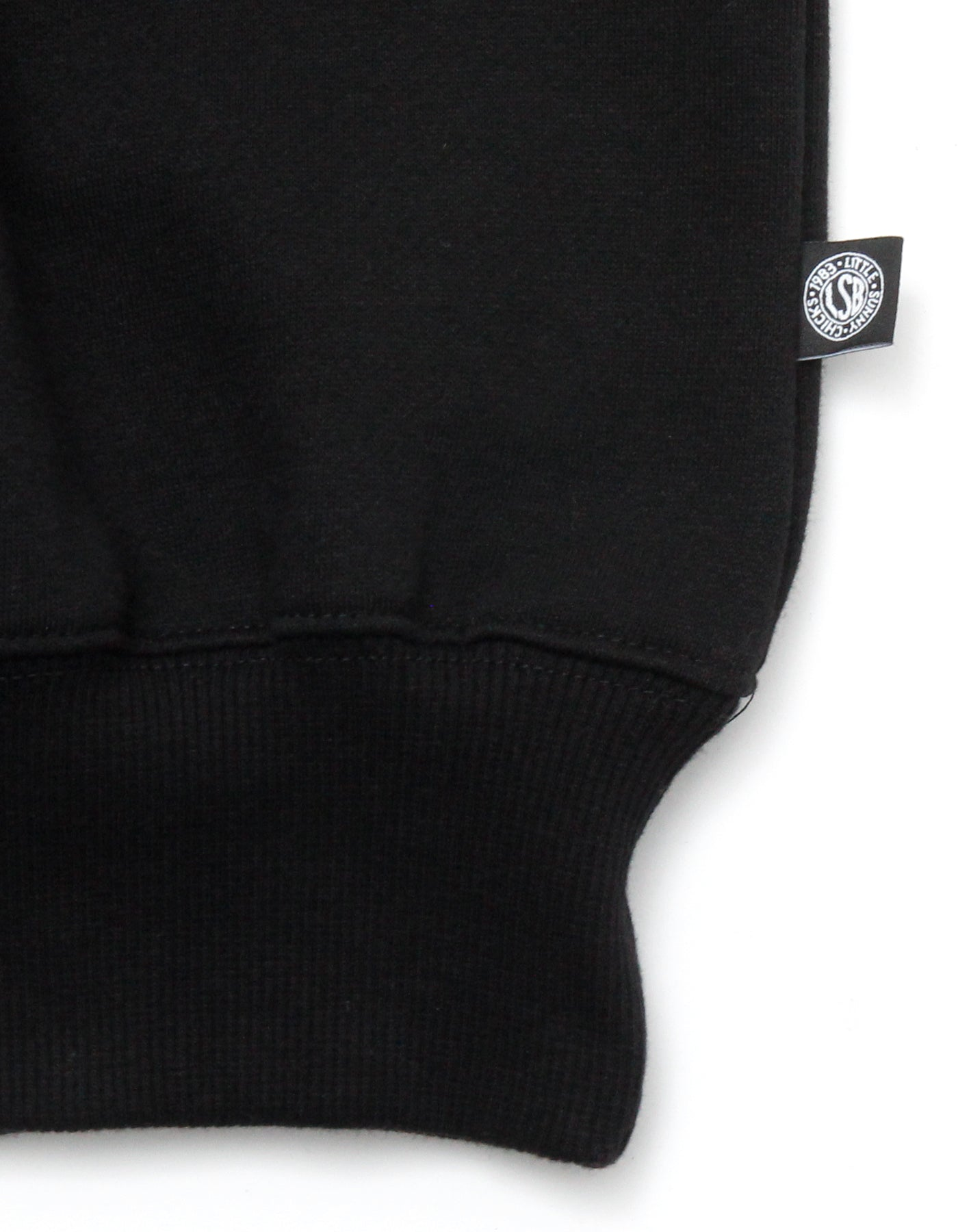 Who cares stitch sweat top / BLACK