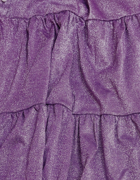 NO COLLAR GLITTER DRESS / PURPULE