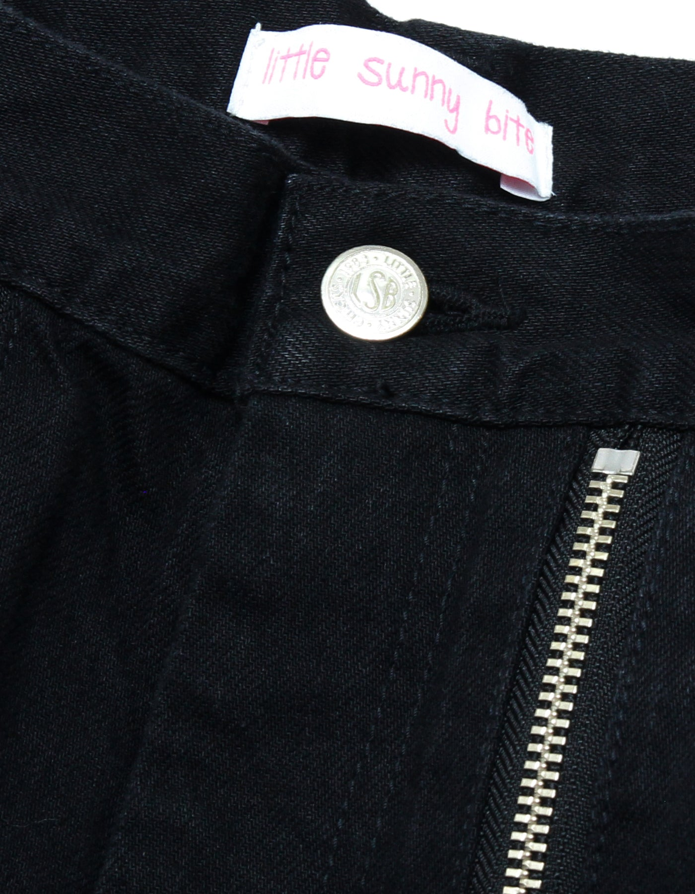 Zipper denim pants / BLACK