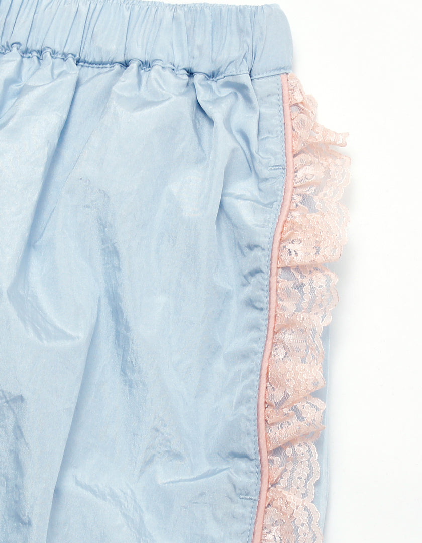 Nylon girly pants / BLUE