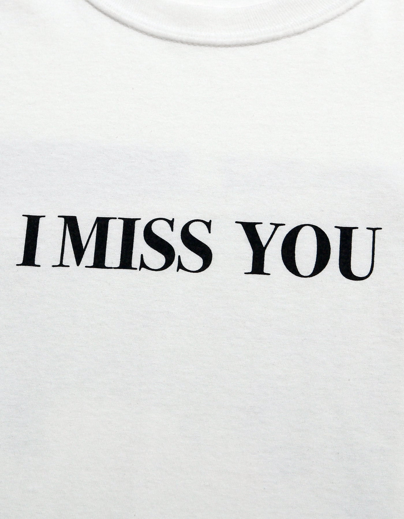 i miss you long tee / WHITE